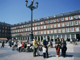 People at a Popular Meeting Point in the Plaza Mayor in Madrid, Spain, Europe Photographic Print by Jeremy Bright