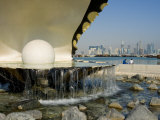 Waterfront Oyster Pearl Sculpture, Doha Bay, Doha, Qatar, Middle East Photographic Print by Charles Bowman