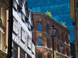 Architectural Contrasts, Manchester, England, United Kingdom, Europe Photographic Print by Charles Bowman