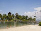 Palawan Beach, Sentosa Island, Singapore, Southeast Asia Photographic Print by Pearl Bucknall