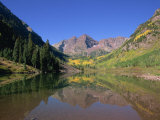 Maroon Bells, Aspen, Colorado, United States of America, North America Photographic Print by Jean Brooks