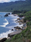 Westport to Greymouth Highway from Kaipakati Point, Westland, South Island, New Zealand Photographic Print by Jeremy Bright