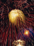 Fireworks Display Photographic Print by Steve Bavister