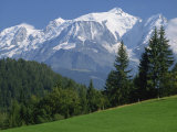 Mont Blanc, Haute Savoie, Rhone Alpes, Mountains of the French Alps, France, Europe Photographic Print by Michael Busselle