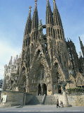 Sagrada Familia, the Gaudi Cathedral in Barcelona, Cataluna, Spain, Europe Reproduction photographique par Jeremy Bright