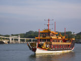 Old Chinese Junk Used as Tour Boat, Keppel Channel, Singapore, Southeast Asia Photographic Print by Pearl Bucknall