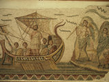 Roman Mosaic, Ulysses and Chant of Sirens, Bardo, Tunisia, North Africa, Africa Photographic Print by David Beatty