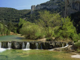 Landscape of the River Ibe Near Vallon Pont De L'Arc in Ardeche, Rhone-Alpes, French Alps, France Photographic Print by Michael Busselle