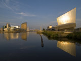 Lowry Centre and Imperial War Museum North, Salford Quays, Manchester, England, United Kingdom Photographic Print by Charles Bowman