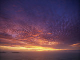 Colourful Skies at Dusk, over Seascape, New Zealand, Pacific Photographic Print by Jeremy Bright