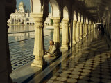 Sikh Elder at Prayer at the Golden Temple of Amritsar, Punjab State, India Photographic Print by Jeremy Bright