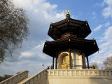 Buddha in the Peace Pagoda, Battersea Park, London, England, United Kingdom, Europe Photographic Print by Julia Bayne