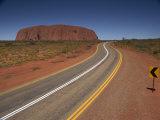 Road Near Ayers Rock, Uluru-Kata Tjuta National Park, Northern Territory, Australia, Pacific Photographic Print by Julia Bayne