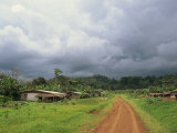 Typical Village in Western Cameroon, Africa Photographic Print by Julia Bayne