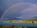 Rainbow over Lake Tekapo, Canterbury, South Island, New Zealand, Pacific Photographic Print by Jeremy Bright