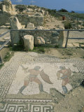 Mosaic, the House of Gladiators, Kourion, Cyprus, Europe Photographic Print by Jeremy Bright
