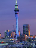 Sky Tower and City Skyline at Dusk, Auckland, North Island, New Zealand, Pacific Photographic Print by Jeremy Bright