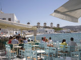 Little Venice, Chora, Mykonos, Cyclades, Greek Islands, Greece, Europe Photographic Print by Angelo Cavalli