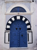 Doorway, Sidi Bou Said, Tunisia, North Africa, Africa Photographic Print by David Beatty