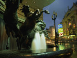 Water Fountain with Horse Statues, Piccadilly Circus, London, England, United Kingdom, Europe Photographic Print by Julia Bayne