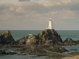 Corbiere Lighthouse, Jersey, Channel Islands, United Kingdom, Europe Photographic Print by Jean Brooks