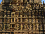 Detail of Erotic Decoration on Temple at Khajuraho, Madhya Pradesh State, India Photographic Print by Jeremy Bright