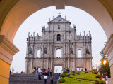 St. Paul's Cathedral Facade, Macau, China Photographic Print by Charles Bowman