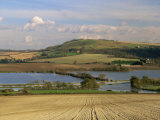 Arun Valley in Food, with South Downs Beyond, Bury, Sussex, England, United Kingdom, Europe Photographic Print by Pearl Bucknall