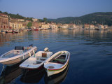 Small Boats in the Harbour at Gaios on Paxos, Ionian Islands, Greek Islands, Greece, Europe Photographic Print by Julia Bayne