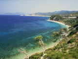 Beach and Coastline Near Kokkari, Samos, Dodecanese Islands, Greek Islands, Greece, Europe Photographic Print by David Beatty