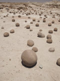 Spherical Rock Formations, Valle De La Luna National Park, San Juan, Argentina, South America Photographic Print by Colin Brynn