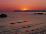 Agia Marina Beach at Dawn, Crete, Greek Islands, Greece, Europe Photographic Print by Jean Brooks
