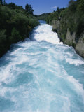 Hukanui, the Huka Falls on the Waikato River, North Island of New Zealand, Pacific Photographic Print by Jeremy Bright