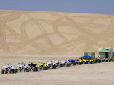 Quad Bikes, Desert Dunes, Qatar, Middle East Photographic Print by Charles Bowman