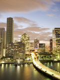 Downtown Skyline at Dusk, Miami, Florida, United States of America, North America Photographic Print by Angelo Cavalli