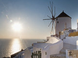 Windmill, Oia, Santorini, Cyclades Islands, Greek Islands, Greece, Europe Photographic Print by Angelo Cavalli