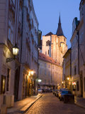 Deserted Street, Old Town, Prague, Czech Republic, Europe Photographic Print by Martin Child
