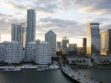 Downtown Skyline at Sunset, Miami, Florida, United States of America, North America Photographic Print by Angelo Cavalli