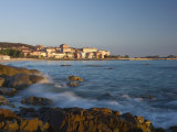 Old Town and Beach, L'Lle Rousse, Corsica, France, Mediterranean, Europe Photographic Print by Mark Banks