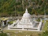 Stupa at Tashi Yangtse in Eastern Bhutan Photographic Print by Gina Corrigan