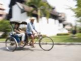 Angelo Cavalli - Cycle Rickshaw, Chiang Mai, Thailand, Southeast Asia - Fotografik Baskı