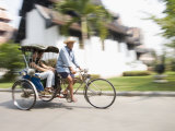Cycle Rickshaw, Chiang Mai, Thailand, Southeast Asia Photographic Print by Angelo Cavalli