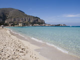 Beach, Mondello, Palermo, Sicily, Italy, Mediterranean, Europe Photographic Print by Martin Child