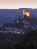 Chateau at Dusk, Najac, Midi Pyrenees, France, Europe Photographic Print by Mark Banks