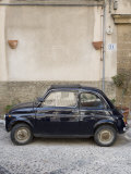 Fiat 500 Car, Cefalu, Sicily, Italy, Europe Photographic Print by Martin Child
