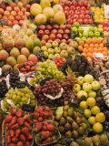 Fruit and Vegetable Display, La Boqueria, Market, Barcelona, Catalonia, Spain, Europe Photographic Print by Martin Child