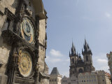 Astronomical Clock, and Church of Our Lady before Tyn, Old Town Square, Prague, Czech Republic Photographic Print by Martin Child