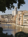 Bridge, Cathedral and Painted Houses on the Bank of the Riu Onyar, Girona, Catalonia, Spain Photographic Print by Martin Child