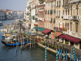 View of Grand Canal and Riva Del Vin from Rialto Bridge, Venice, Veneto, Italy Photographic Print by Martin Child