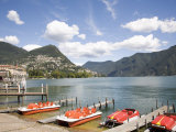 Lugano, Lake Lugano, Tessin Canton, Switzerland, Europe Photographic Print by Angelo Cavalli